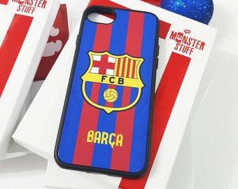 Barça Custom phone case. Cell phone case with the colors of Football Club Barcelona. Messi, Neymar and Suarez mes as a club