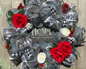 Front Door Wreath - Wedding Gift - Engagement Gift - Bridal Shower Gift -  Anniversary Gift - Housewarming Gift - Gift for Newlyweds