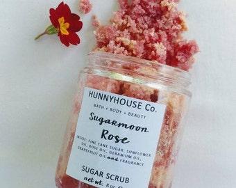 SugarMoon Rose Sugar Scrub   8 oz.