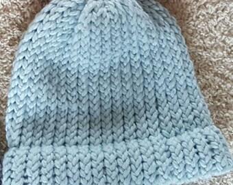 Mint Blue Knit Hat