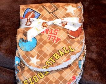 Handmade Baby Burp Cloths, Baby Boy Burp Cloth