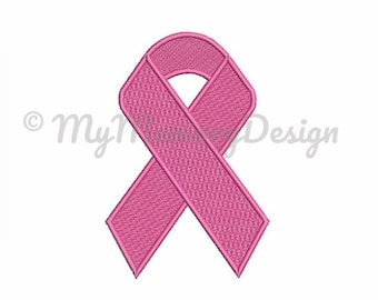 10 SIZE Cancer Ribbon Embroidery Design - Breast Cancer Symbol Filled Stitch Embroidery  - Machine embroidery - Instant download - 10 SIZE