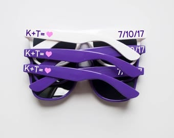 Custom Sunglasses, Custom Wedding Sunglasses, Bridal Party Sunglasses, Personalized Sunglasses, Wedding Favor Sunglasses, Wayfarer