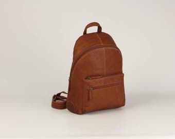 Genuine leather woman backpack (brown, black, camel) bag BPJ-17