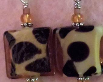 Leopard Spotted Earrings