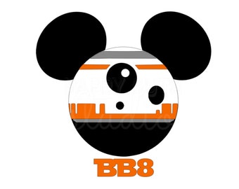 Personalized BB8 Star Wars Mickey Minnie Mouse Matching Family Disney World Father Son Vacation Disney Iron On Decal Vinyl for Shirt 042
