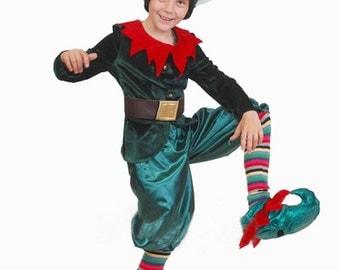 toddler boy Christmas elf costume children gnome costume kid