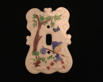 Vintage Ceramic Switchplate Cover