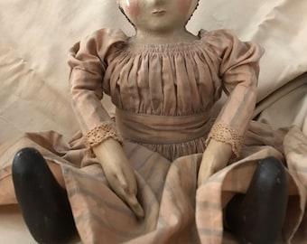 """Ahna 20"""" tall Primitive Doll"""