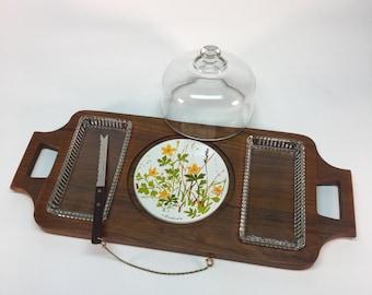 Teak Goodwood handled serving tray