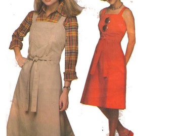 Simplicity 8005, 90s Sewing Pattern, Misses' Jiffy Back-Wrap Dress or Jumper, Size 10-12.