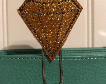 "Sweet little Feltie - Paperclip, Bookmark ""diamond gold"""
