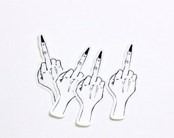 Middle Finger Stickers - Set of 4
