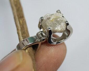 3.80 cts Gray rough diamond pendant, rough diamond Pendant , raw diamond pendant, uncut Grey diamond necklace, rustic diamond pendant