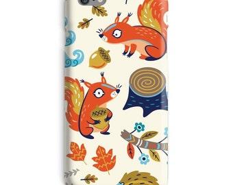 Squirrel iPhone Case, Nuts iphone case, Forrest iphone 6 case, Fall iphone 6 case, Autumn iphone 6s case, Cute iphone case