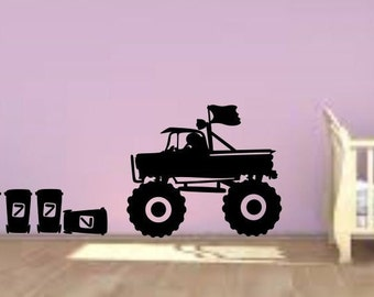 XXL MOUSE Monster Truck Car JDM Playroom Wall Decal decorative vinyl home decor Children's Room Stickers Nursery Room boys room decor