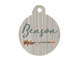 Tribal  Arrow Pet Id Tag, Ethnic Dog Tag for Dogs, Trendy Tribal Pet Tag, Trendy Dog Tag, Arrow Cat Id Tag, Arrow Dog Tag, Male Pet Id Tag