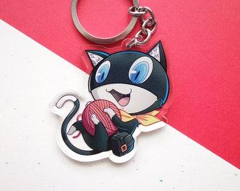 "PREORDER: Morgana 2.5"" Double-sided Acrylic Keychain Charm / Persona 5"