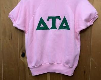 1980s Delta Tau Delta Sweatshirt / Shirt vintage Small