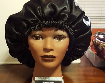 Solid Colored Charmeuse Satin Bonnet
