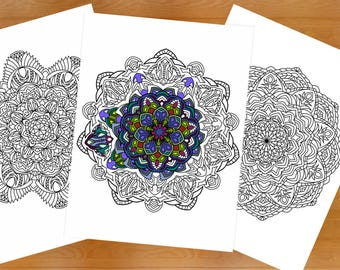 printable mandala coloring book 10 unique coloring pages for relaxation