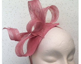 Dusky Pink Fascinator - Headpiece - Fascinator - Winter Wedding - Hatinator - Hat - Blush - Dusty Pink - Goodwood - Races