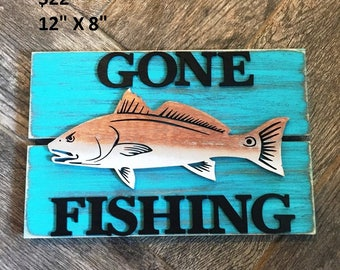 Rustic Fishing Sign