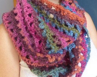 Chunky moebius woollen scarf