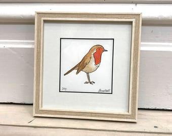 Framed Original - Robin