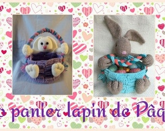 BASKET of Easter Bunny tutorial