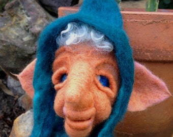 Needle felted Gnome of Fortune