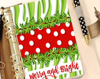 Christmas Dashboard, MERRY AND BRIGHT, Holiday Planner, December Dashboard, Planner Accessory, A5 Dashboard, Personal Planner, Divider Pages