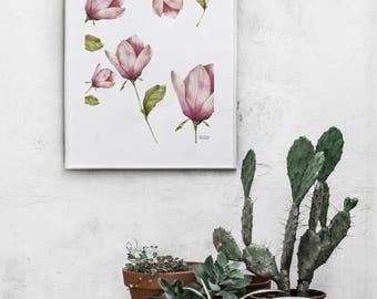 Flower Pattern, flower, wall art, flower print, botanical print, botanical, home decor, home decor wall art
