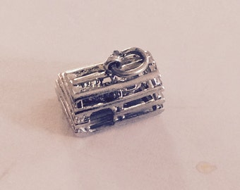 Lobster trap sterling silver charm vintage # 105