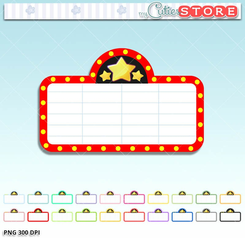 Free Movie Marquee Clipart and Vector Graphics  Clipartme