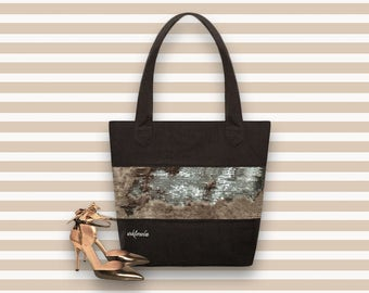 Sequin Tote Bag | Gold and Silver Sequins Bag | Chameleon Sequin Tote Bag | Reversible Sequin Bag | Linen Shopping Bag
