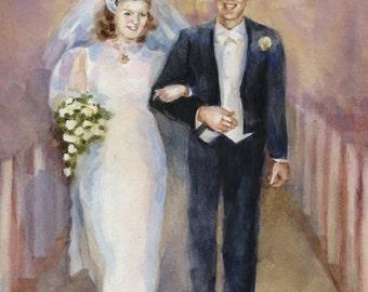 Wedding portrait custom portrait personalized portrait custom gift
