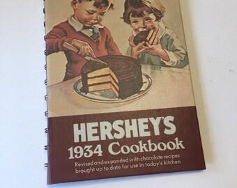Hershey's 1934 Cookbook - Hershey's Chocolate - Chocolate Cookbook - Vintage Cookbook - Vintage Kitchen - Dessert Cookbook - 1970s Cookbook