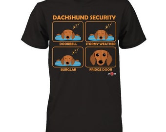 Dachshund Shirt | Dachshund Security | Funny Gift idea for all Dachshund owners and lovers