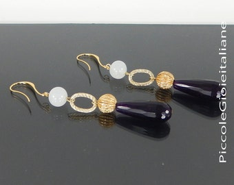 Modern earrings gemstone Earrings earrings Earrings gift Earrings drop earrings Earrings Eggplant craft