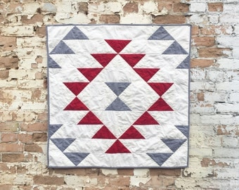 Tribal Triangles Quilt | Modern Baby Quilt