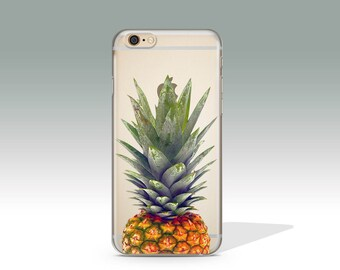 iPhone 6 Case Pineapple iPhone 7 Case Clear iPhone 6S Case iPhone 5S Case iPhone 7 Plus Case iPhone 6 Plus Case Phone Case Gift for Her /117