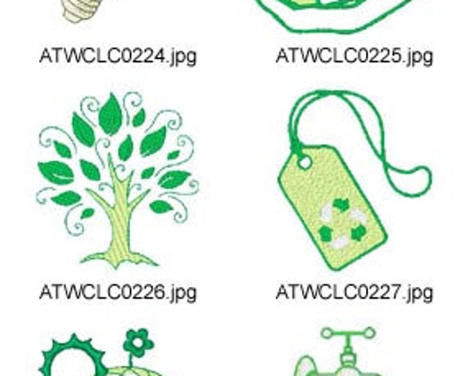 Lets-Go-Green ( 10 Machine Embroidery Designs from ATW ). XYZ17C