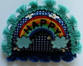 Happy Rainbow, brooche , Collection FUN