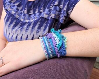 Freeform Crochet Wanderer Bracelet ( Tursiops )