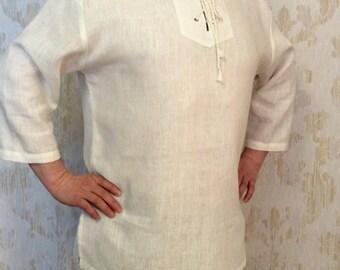 Natural linen handmade men's shirt, Linen shirt men's, Linen summer shirt, Long sleeve linen shirt, Summer linen shirt, Linen shirt.