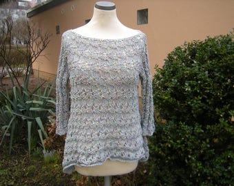Sweater, pattern, A-line, pointy, pastel, Gr. 36-40