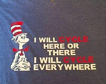 Cycling Shirt, Cat in the Hat Shirt, Cycling Gifts, Dr Seuss Shirts, The Cat in the Hat, Cycling TShirt, Cycling Tshirts, Cycling T-Shirt
