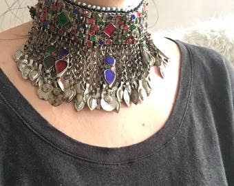 Vintage Kuchi Choker necklace