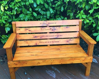 Memorial Bench | Engraved Memorial Plaques | Garden Memorials | Personalised Benches | Grave Markers | Grave Decorations